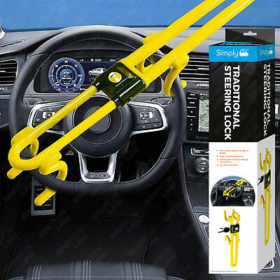Traditional Heavy Duty Car Steering Wheel Lock Bar Hook Anti Theft Protection