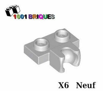 Lego 4x Plate Modified 1x2  rotule Towball socket gris//light b gray 14704 NEUF