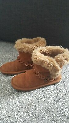 Next Girls Suede Boots Size 3, Brown / Tan / Ankle