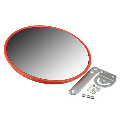 30cm Red Convex Mirror Wide Angle Security Road Traffic Driveway Safety+fitting