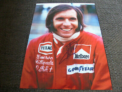 EMERSON FITTIPALDI signed 8x11 autograph FORMULA ONE Photo InPerson 2020 Berlin