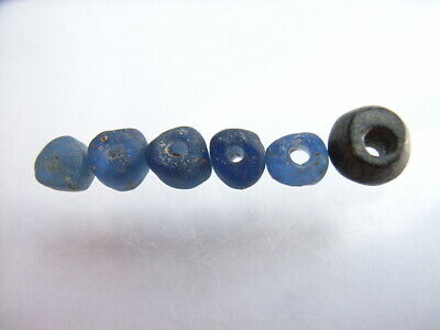 6 Ancient Roman Glass Beads Romans VERY RARE!  TOP !!