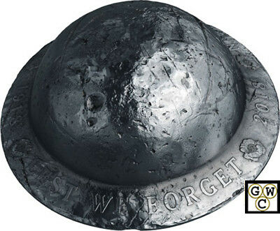 2018 'Lest We Forget' Helmet-Shaped Silver Coin .9999 Fine (18627) (NT)