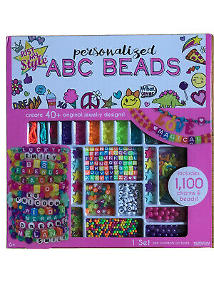Just My Style ABC Beads by Horizon Group USA,DIY Jewelry Making Kit With 1000+