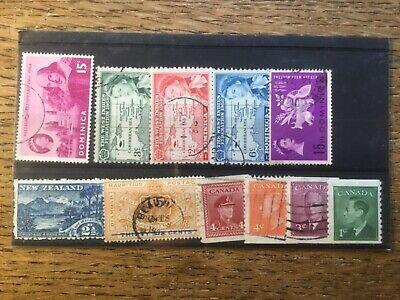 Stock Card Commonwealth Stamps (3)