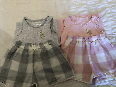 Two Pairs Of Girls Shorts Pyjamas By Next age 4 Years