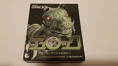 TUROK BATTLE OF THE BINOSAURS Game Boy Gameboy jp jap jpn Import ACCLAIM selten