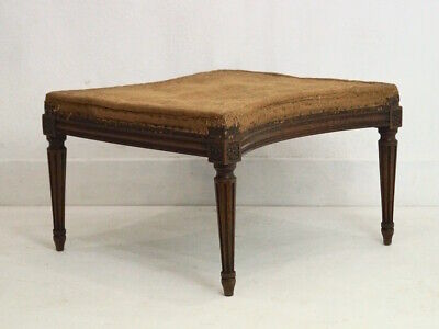 Fabulous Antique French Louis XVI Footstool inc. Reupholstery