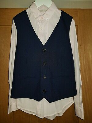 NEXT SIGNATURE Boys 4 Piece Navy Blue Suit Age 9 Very Smart Wedding/Christening