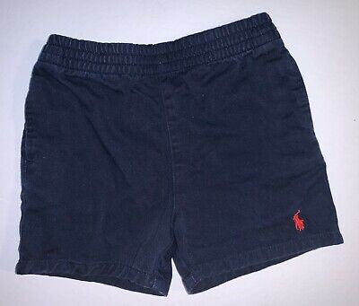 Ralph Lauren Baby Boys Navy Blue Cotton Pull On Shorts Size 12 Months