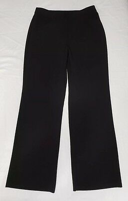 Chicos Womens Black Dress Stretch Straight Leg Pants Size 0