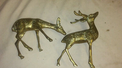 Collectible Brass Deer Figures