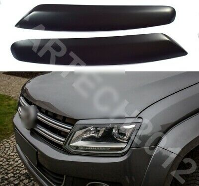 Fits Volkswagen AMAROK 2010 Onwords Headlights Eyebrows, ABS PLASTIC, TUNING