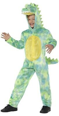Boys Green Dinoraptor Dinosaur Halloween Fancy Dress Costume Outfit 4-10 years