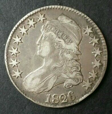1826 50c Capped Bust Silver Half Dollar