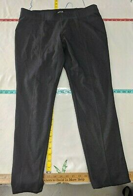 Apt 9 Women Size 18.5W Midrise Curvy Stretch Straight Leg Dress Pants Dark Gray
