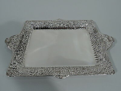 Tiffany Tray - 5140 - Antique Victorian Repousse - American Sterling Silver