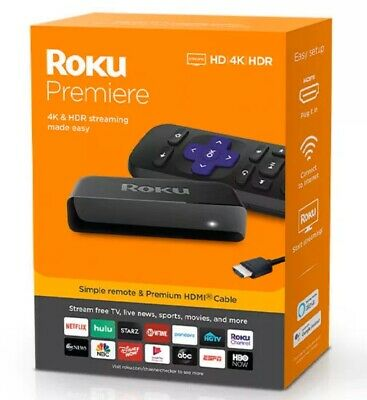 Roku Premiere   HD/4K/HDRStreaming Media Playerwith Simple Remote New In Box