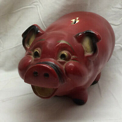 Vintage Piggy Bank Large Pig by A. N. Brooks Ltd. Made in USA