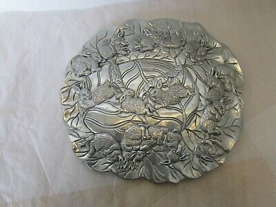 Vintage 1990 Arthur Court Metal Bunny Rabbit Trivet Wall Hanging Decoration