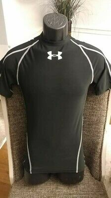 Under Armour Heat Gear Mens Medium Short Sleeve Compression Fitted Black