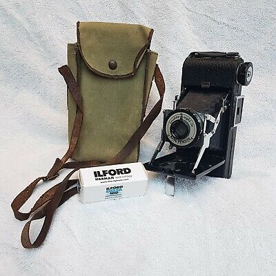 Vintage Kershaw eight - 20 King Penguin folding camera with Ilford ISO 100 film