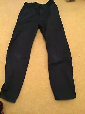 BOYS NEXT COTTON TROUSERS AGE 7 Years NAVY BLUE