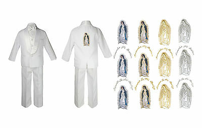 Baby Boy Christening Suit Gold Guadalupe Virgin Mary On Back Of The Jacket SM-20