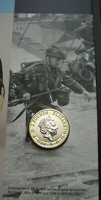 2019 ROYAL MINT ANNUAL SET--TWO POUND COIN UNCIRCULATED D-DAY LANDINGS £2 sealed