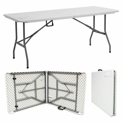 New! 6Ft Folding Collapsible Portable Pop Up Table Trestle Picnic Party Bbq Xmas