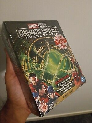 Marvel Cinematic Universe Phase 3 Part 1 Blu Ray brand new sealed.