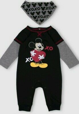 Baby Boys Disney Mickey Mouse Sleepsuit Romper Tiny Prem Sizes from Newborn to 18 Months