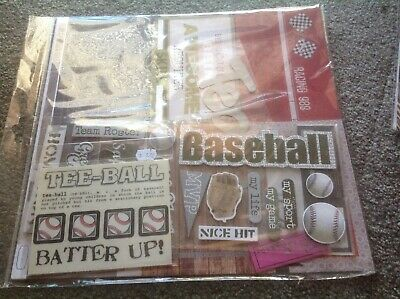 scrapbooking kit with stickers and chipboard