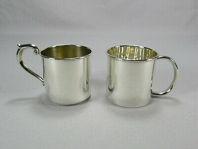 Set of Two Clean Sterling Silver Baby Cups No Monograms Newport & Towle Sterling