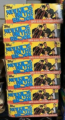 Topps New Kids On The Block Unopened Box Series 1 Cards & Stickers 36 Packs