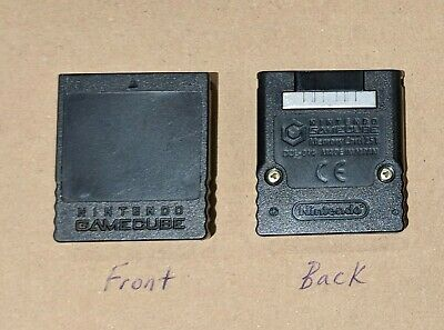 Black Nintendo GameCube Memory Card 251 blocks (See Description!!!)