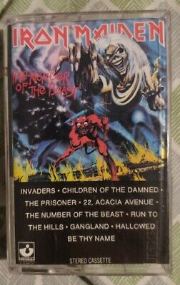Iron Maiden The Number of the Beast US Cassette BMG Music Club Press VG+ TO EX