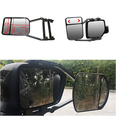 Adjustable Clip-On Towing Mirror Flat Glass for Caravan Camper Boat Trailer Safe
