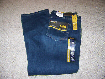 Boys size 18 Husky blue jeans Lee regular fit straight leg adjustable waistband