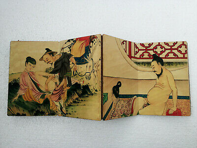 Old Oriental Chinese Paper Painting Ancient Wedding Dowry Collect Book Art