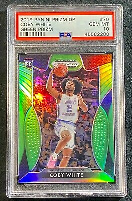 2019 Panini Prizm Draft Picks 70 Coby White Green /125Prizm Gem Mint Psa 10!