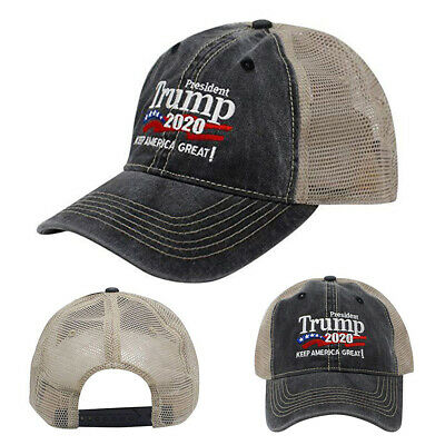 Trump 2020 MAGA Embroidered Hat Keep Make America Great Again Mesh Cap