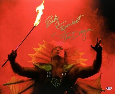 """Ricky Steamboat Signed 16x20 Wrestling Photo """"The Dragon"""" BAS Beckett I57442"""