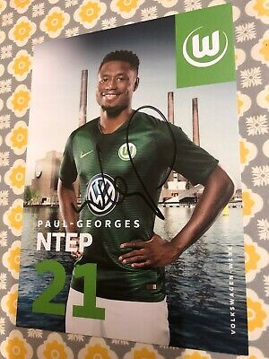 P Georges Vfl Wolfsburg Photo Sign