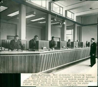 Banking hall of the Barclays Bank - Vintage photograph