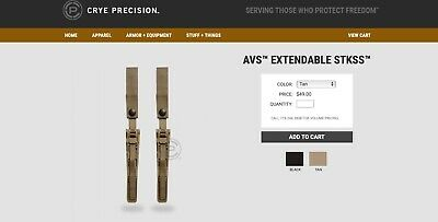 Crye Precsion Avs Extendables Stkss Tan + Free Crye Precision Magclip