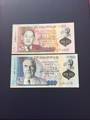 Mauritius Rupee 25,50,100 & 200 Denomination  Bank Notes.Ideal For Collection