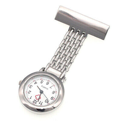 Nurse Watch Stainless Steel Brooch Pendant Doctor Medical Tunic Fob Pocket Watch
