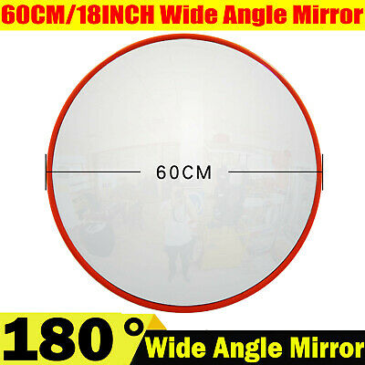 60CM Wide Angle Security Curved Convex Road Mirror Traffic Driveway Round Safe