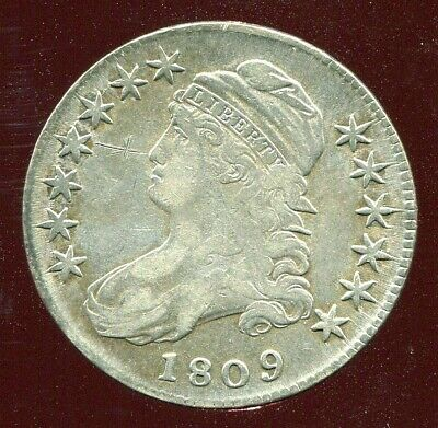 1809 CAPPED BUST HALF DOLLAR very fine VF DETAIL
